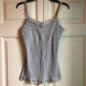 Justice Grey Camisole w Lace Detail + Shelf Bra 18